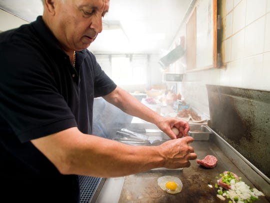 George Bissonnette has been working the grill at Pam's Deli food truck  or other earlier versions working the carnival circuit, for decades. The man knows how to put together a superior egg sandwich or Philly cheesesteak.