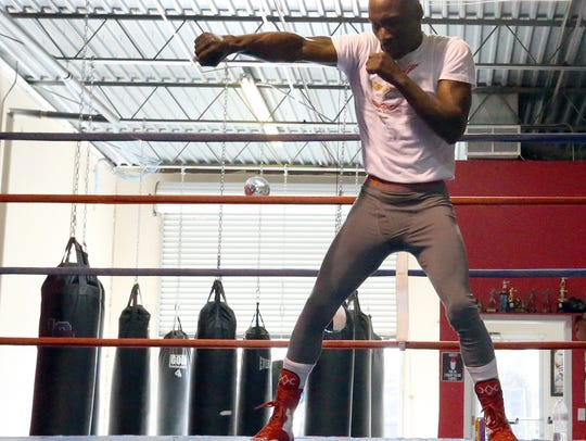 DeMarcus Corley works out Sunday at Warriors Edge Boxing,