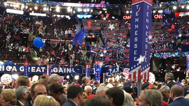 The Republican and Democratic national conventions offered a chance for possible gubernatorial candidates from both parties to schmooze with some of their party's most influential members.