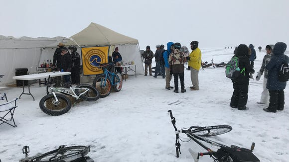 Bike Across Bago is held in Wisconsin. So yeah, there's a beer tent. More than one, actually.