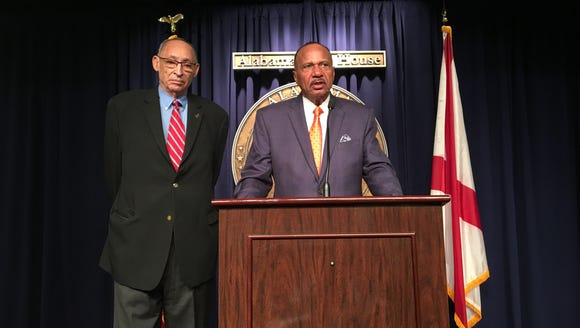 Reps. Thad McClammy (left) and John Knight, both D-Montgomery,