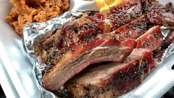 Ribs, no sauce needed, from Smokin R's BBQ in Bonita Springs.