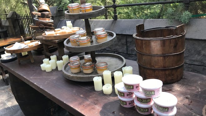 There are plenty of Butterbeer desserts available at Universal Studios Hollywood now: Fudge, Potted Cream and Ice Cream