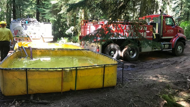 The Drakes Crossing Fire District was the first to respond to the Silver Creek Fire and maintained water for firefighters throughout the wild fire.