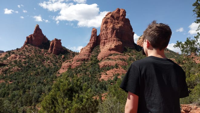 Iden Elliott surveys Sedona's red rocks at Soldier Pass. Sights like these are routine when you're hiking in the most beautiful place on earth.