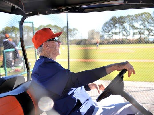 Al Kaline enjoyed bouncing around TigerTown in a golf cart, too.