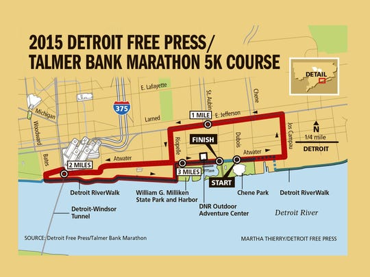 American Home Fitness 5K course for 2015.
