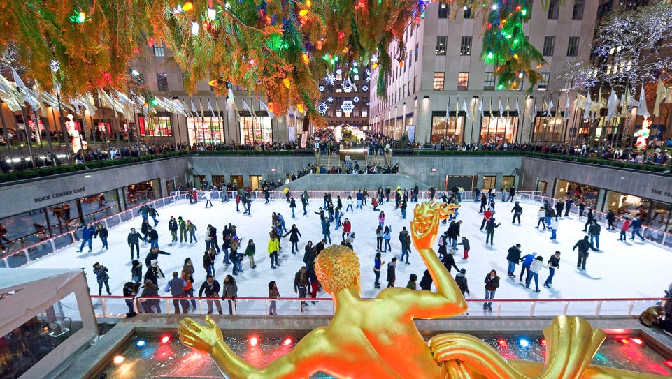 Avoid the biggest crowds by visiting Rockefeller Center