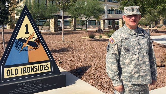 Command Sgt. Maj. Lance P. Lehr has been the senior enlisted leader at Fort Bliss and the 1st Armored Division for the past two years. He will relinquish his job Tuesday and will retire in spring.