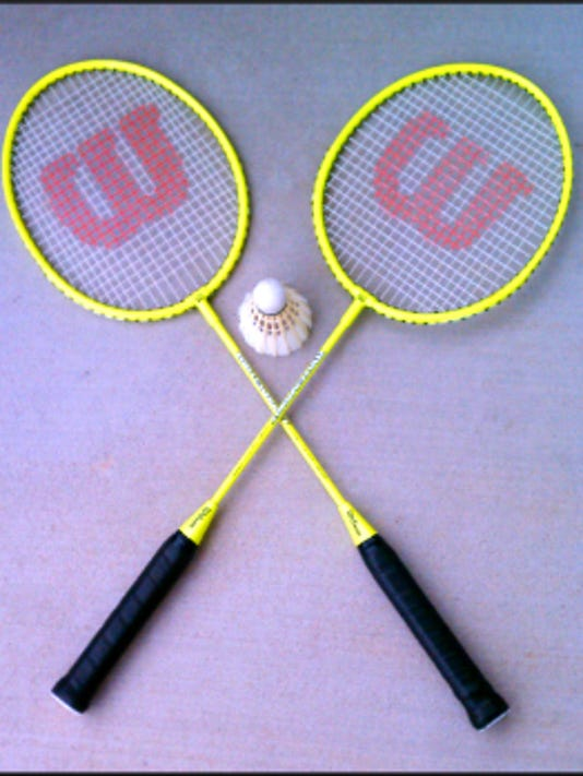 If you decide to get into  badminton, don't buy cheapo rackets. The shuttlecock will get stuck in the webbing.