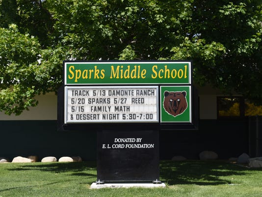 sparks middle school sign