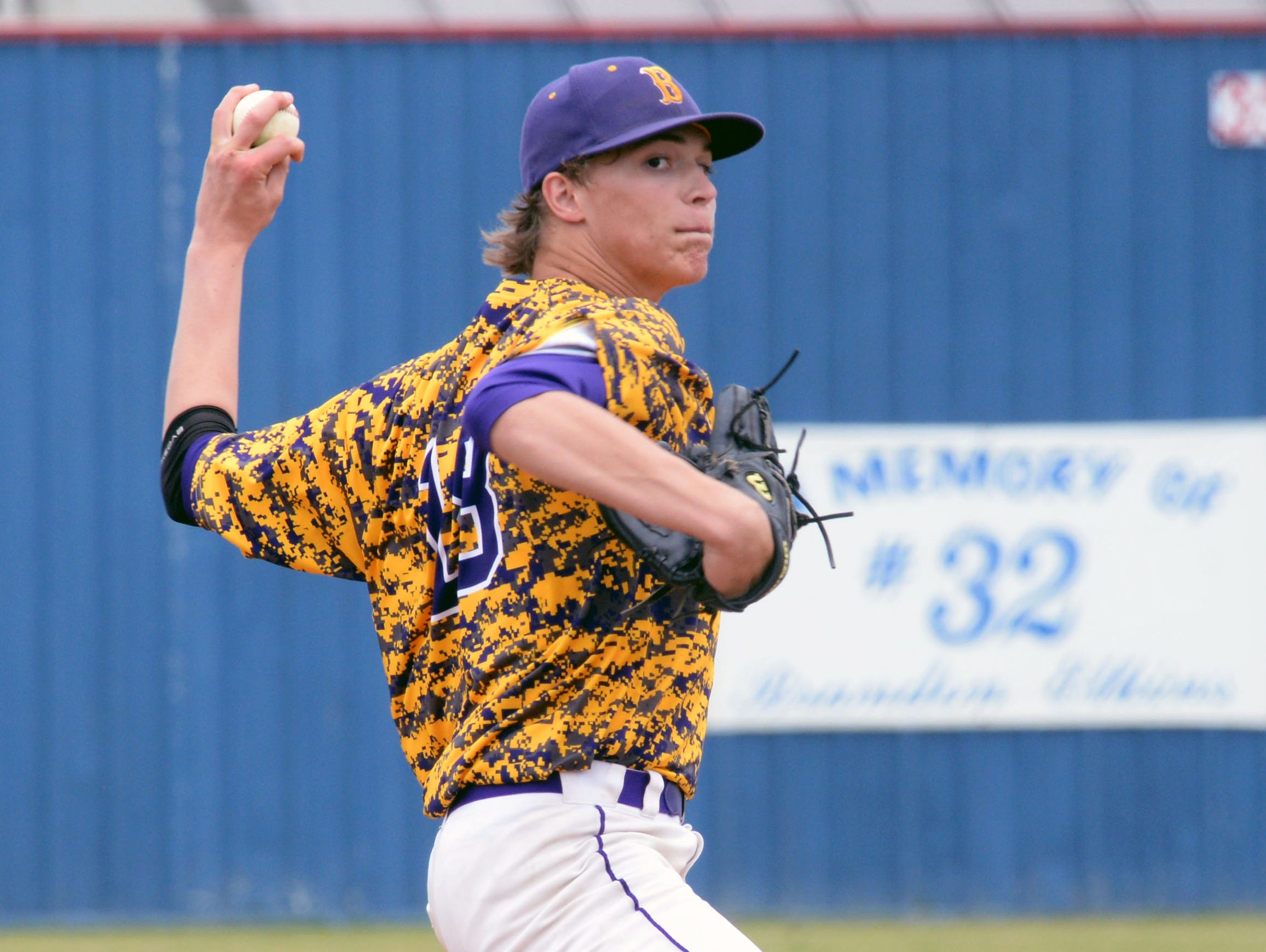 Jackson Rutledge finished a strong day from the mound against North DeSoto as Benton took the game 10-0.