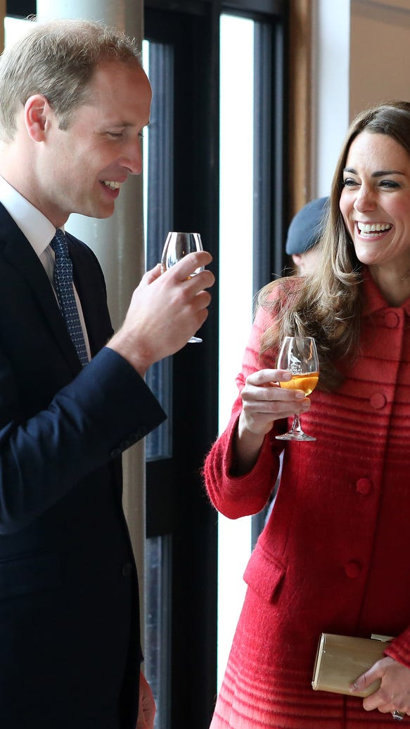 Will and Kate sip whiskey
