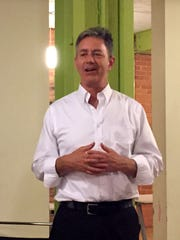 Michael Steinberg, legal director of the Michigan branch of the ACLU, speaks about mass incarceration and Passover, at Bamboo Detroit, on April 21, 2016.