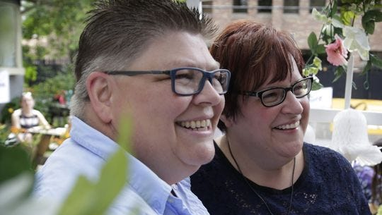 Jayne Rowse, left, and April DeBoer plan to marry Aug. 22.