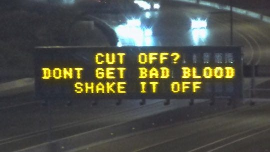 The Arizona Department of Transportation included highway messages on May 8, 2018, referencing Taylor Swift, who launches her  Reputation tour at University of Phoenix Stadium.