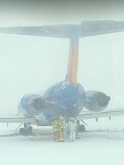 Allegiant Air Flight 456 after sliding off the runway