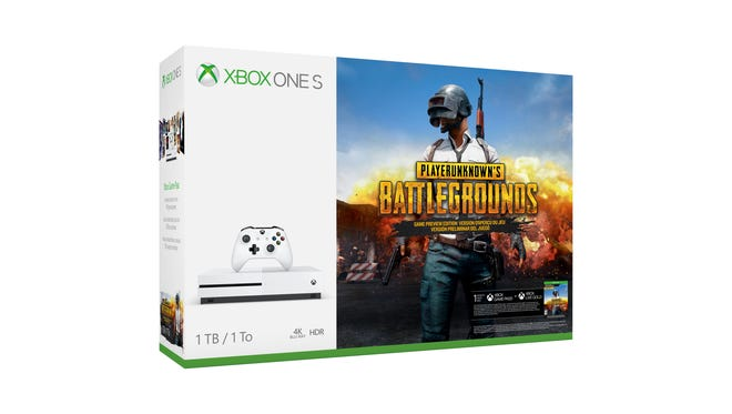 """The """"PlayerUnknown's Battlegrounds"""" Xbox One S bundle ($299.99)."""
