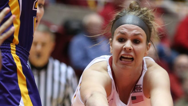 No. 13 Iowa State was led by Hallie Christofferson's game-high 21 points Wednesday night but the Cyclones dropped a Big 12 Conference game to West Virginia at Hilton Coliseum.