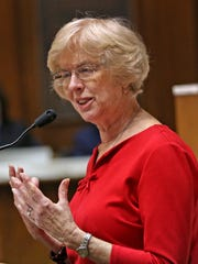 State Rep. Sue Errington questions the school corporation