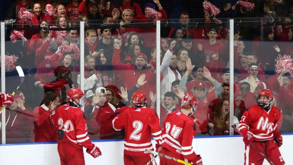 North Rockland players celebrate their second goal