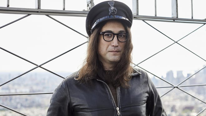 Sean Ono Lennon poses for a portrait on the observation deck of the Empire State building on Oct. 8 in New York to promote an album being released of his father's best known songs.