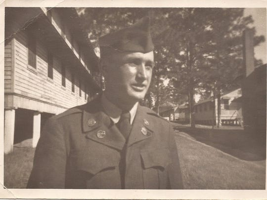 U.S. Army Pfc. Bryan Deel posing for a photo during active duty from 1950-52.