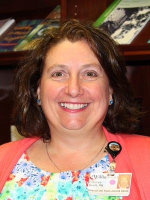 Frances Scott, BSN, RN, is the director of Williamson Medical Center's Joint and Spine Center.
