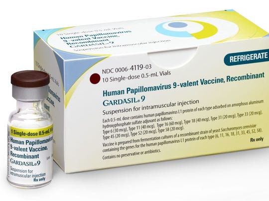 This image made available by Merck in October 2016 shows a vial and package for their GARDASIL 9 human papilloma virus vaccine. Credit: AP | Merck.