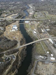Work on an infrastructure overhaul of Asheville's River