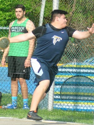 Saddle Brook senior Giovanni Gutierrez took home first place in the discus and shot put at the Bergen Meet of Champions.