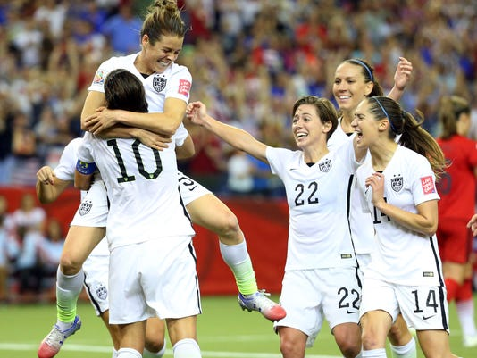 USP SOCCER: WOMEN'S WORLD CUP-SEMIFINAL-UNITED STA S SOC CAN QU