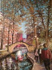 Riverwalk in San Antonio by Edmund Dy.