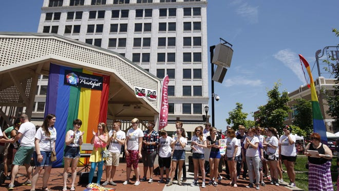In recent years, Greater Ozarks Pridefest has taken place on Park Central Square, as it did June 20, 2015. In the wake of a mass shooting in Orlando early Sunday that killed 49 people plus the shooter, organizers plan increased security at Springfield's pride event.