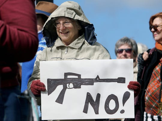 """The """"March For Our Lives"""" protest around the Kitsap Mall in Silverdale Saturday."""
