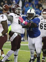 CJ Johnson, right, of the University of Kentucky and