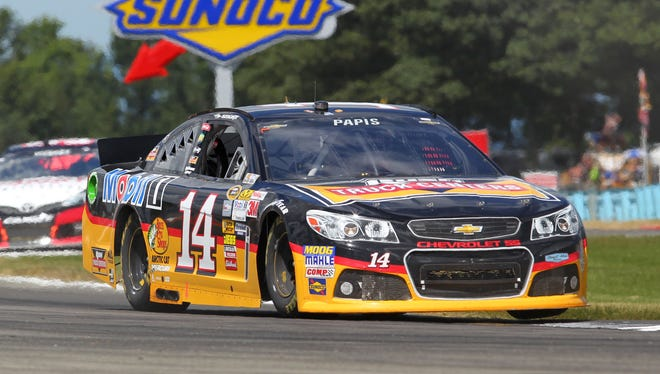 Max Papis subbed for injured Tony Stewart in the No. 14 Chevrolet Sunday at Watkins Glen International.