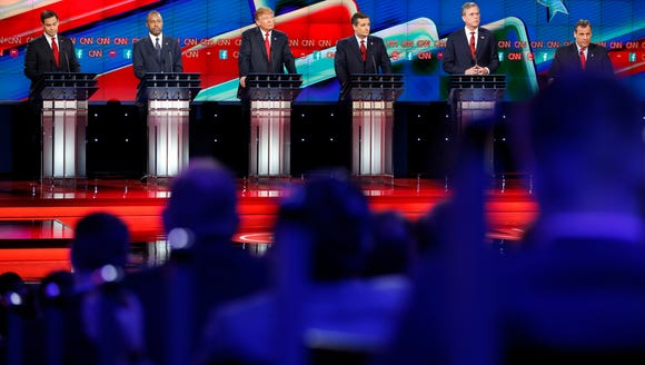 Republican presidential candidates take part in the