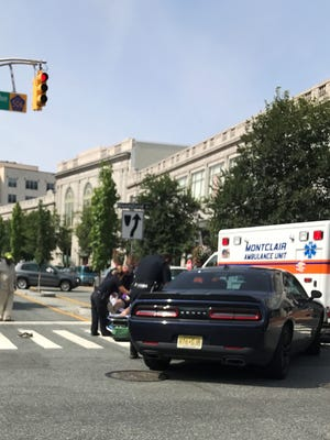 A 42-year-old Verona man was taken to the hospital Sunday morning after his motorcycle collided with a vehicle in Montclair.
