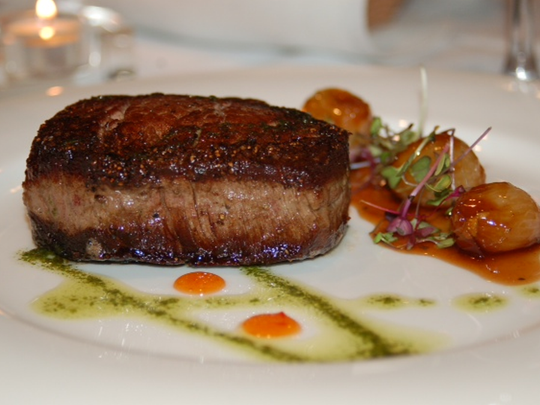 The filet mignon at Sweet Waters Steak House.