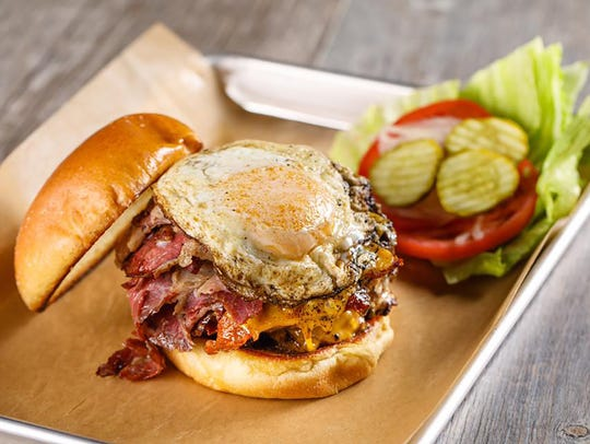 Jimmy P's Hangover Burger features double Wagyu beef