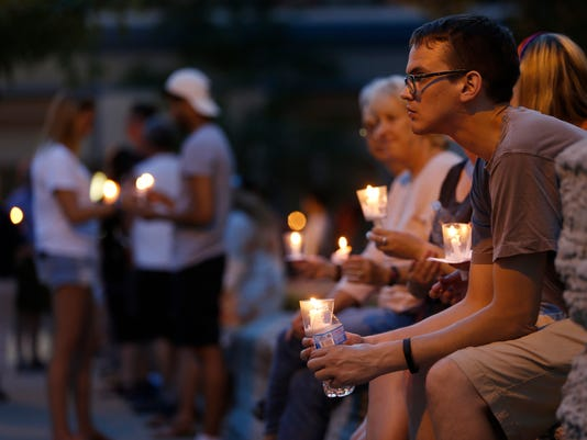 LAF Candlelight vigil for victims of shooting