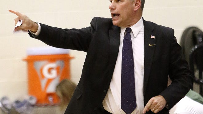 Sebring boys basketball coach Brian Clark gives instructions to his team in a January 2020 game.