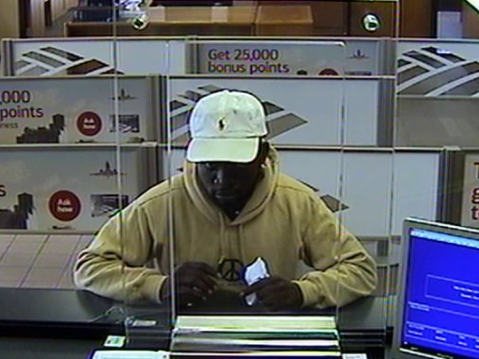 Palm Bay police are looking for a man who tried to rob Bank of America Friday.