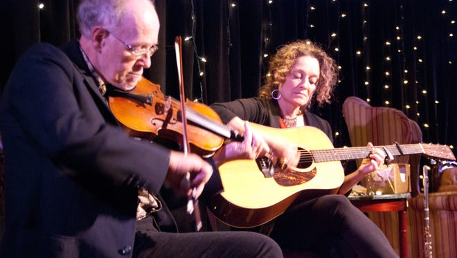 "Pete Sutherland and Patti Casey perform original folk songs as part of ""Winter Tales"" by Vermont Stage."