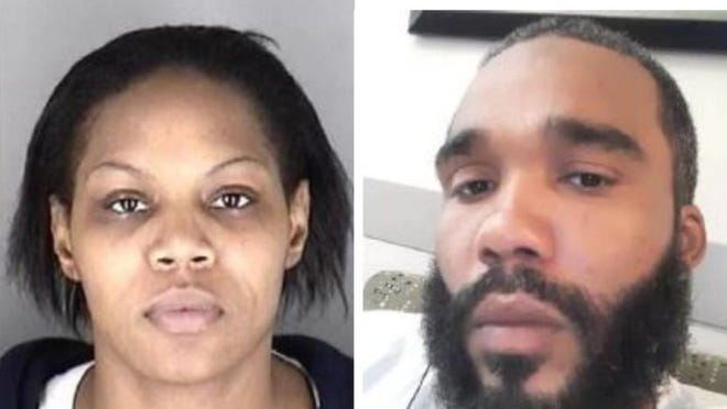 Latrelle Sheneice Praylow, on the left, on Thursday became the second person arrested in connection with a homicide committed Oct. 3 in Topeka. Authorities continued to seek Todge Anderson, shown on the right, in the case.