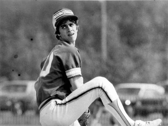 Former Central Regional pitcher Jeff Musselman shown in a 1981 game.
