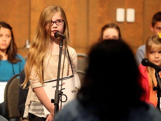 Morgan Hanna, a 3rd grader from Crockett Elementary,