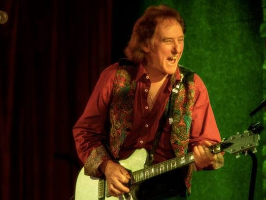 Denny Laine will play songs from his long associations with The Moody Blues and Wings, the band he started with Paul McCartney, on Sunday in Newton.