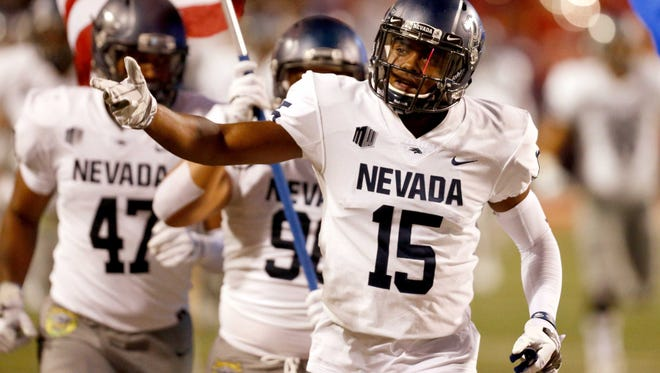 Nevada receiver Trevion Armstrong and the rest of the Wolf Pack will look to get their first win of the season Saturday against Hawaii.